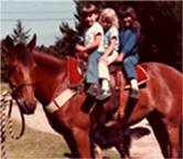 Kids on horse 1980's