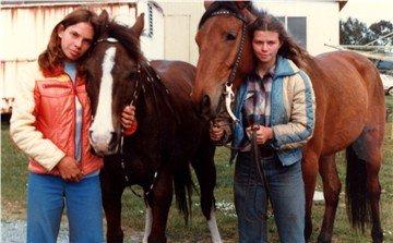 We always rode bareback as kids