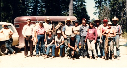I rode with this crazy bunch of horsemen on my first pack trip!