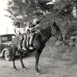 Kids on horse 1930's