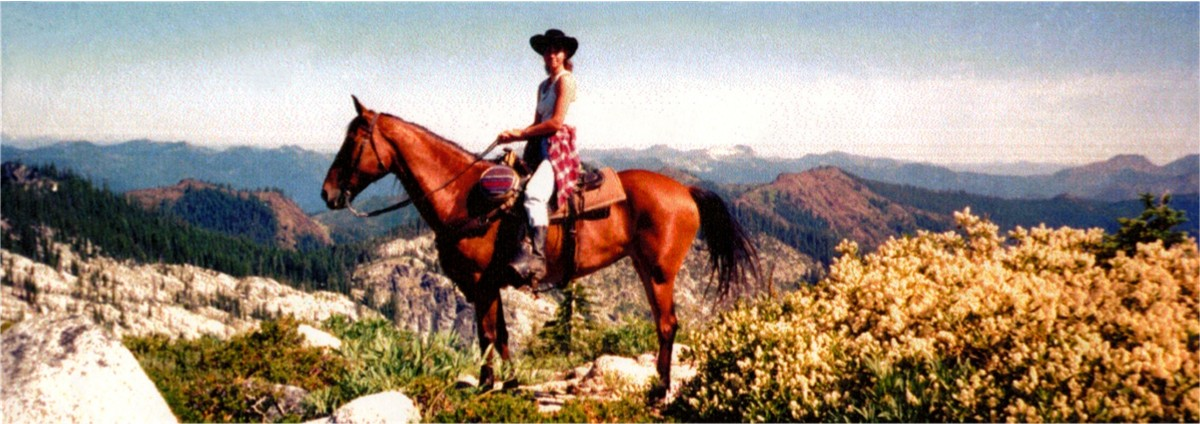 Trail riding on top of the world! Click here for horse camping.