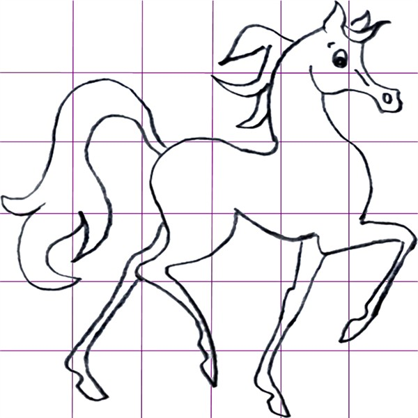 This cartoon horse style is popular today.