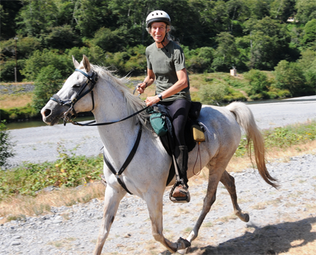 Endurance riding with Betit Meyer