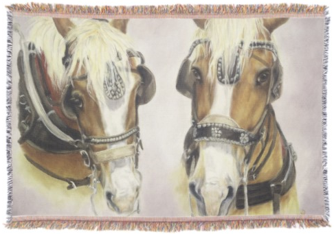 Draft Horse Throw Blanket