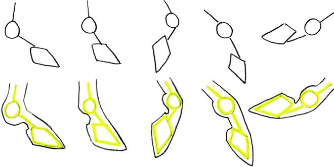 draw horse hoofs