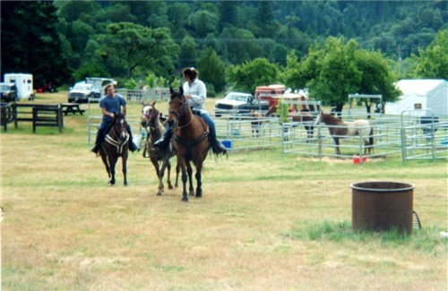 This equine camp ground is surrounded by miles of trails.