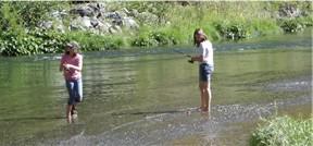 My girls fishing
