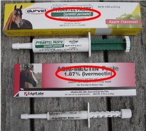 Horse dewormers active ingredients