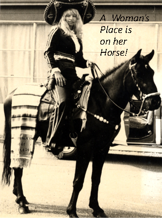 A woman's place is on her horse!