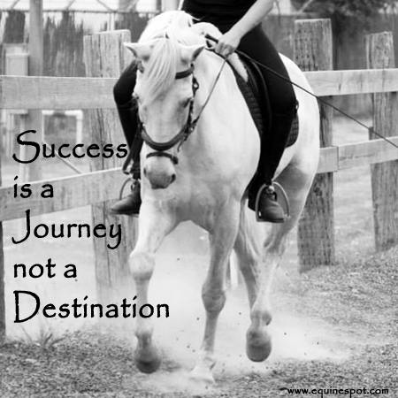 Success is a journey not a destination.