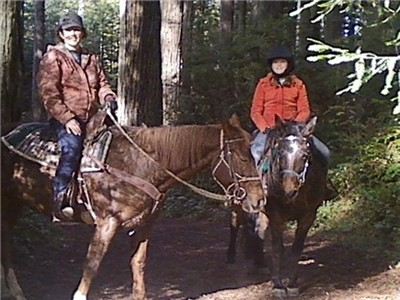 Trail riding is a fun family affair!