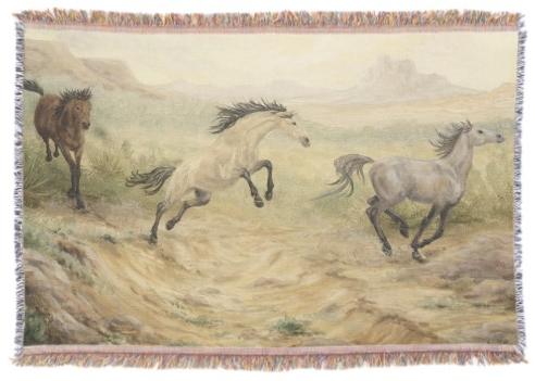 Wild Horses Throw Blanket