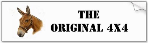 'The Original 4x4' bumper sticker
