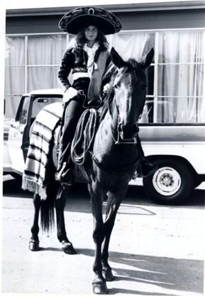Spanish parade horse and rider.