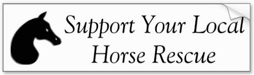 'Support Your Local Horse Rescue' bumper sticker