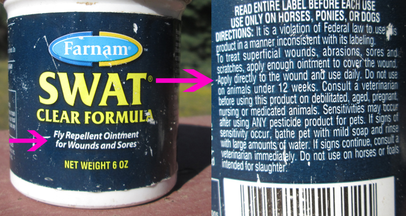 Do NOT confuse this wound product with other Swat fly repellents - Read the Label