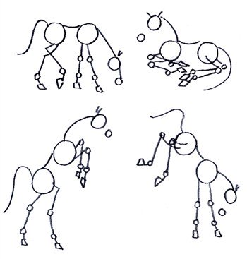 Drawing horses in action illustration 1