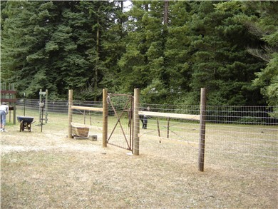 Home made horse paddock