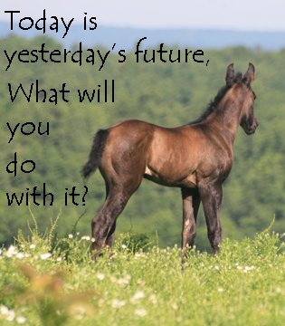 Today is yesterday's future...