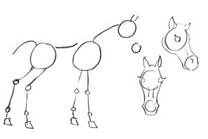 How to draw a horse in easy steps