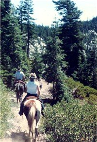 trail ride in the Marble mountains