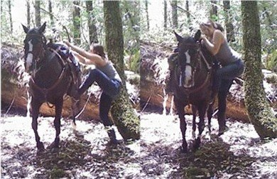 You'll need clothing you can move in to ride a horse.