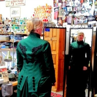 Custom sewn sidesddle dress!
