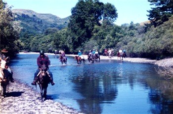 The trail rider and river crossings.